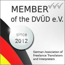 Member of DVÜD e.V.